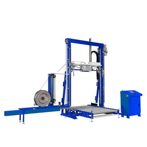 TP733VTS Fully Automatic Top-Seal Vertical Pallet Strapping Machine