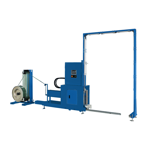 TP733VLM Fully-Automatic Vertical Pallet Strapping Machine